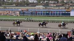 Race track pre race Stock Footage