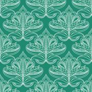 Persian openwork foliage compositions seamless pattern Stock Illustration