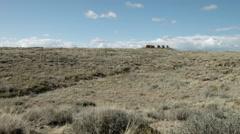 Chaco Culture dramatic ruins, Pueblo Alto, New Mexico Stock Footage