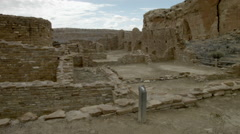 Chetro Ketl, Chaco Culture National Historical Park ruins, New Mexico Stock Footage