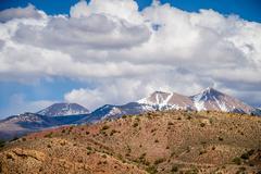 Canyon badlands and colorado rockies lanadscape Stock Photos