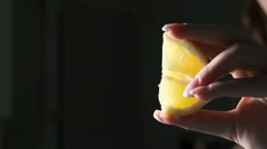 Lemon slow motion Stock Footage