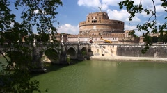 Stock Video Footage of Castel Sant'Angelo, Rome