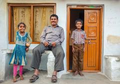 Stock Photo of Indian family