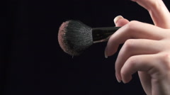 Powder make up slow motion - stock footage