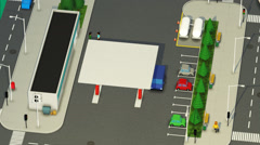 Gas Station In City - stock footage