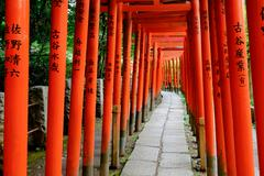 Torii in shinto shrine, Tokyo Stock Photos