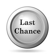 Last chance icon. Internet button on white background.. - stock illustration
