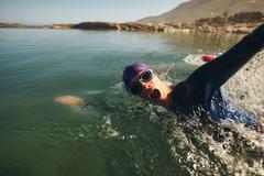 Triathlon long distance swimming Kuvituskuvat