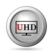 Stock Illustration of Ultra HD icon. Internet button on white background..