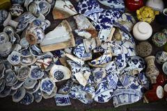 Broken vases Stock Photos