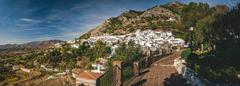 Panorama of white village of Mijas. Costa del Sol, Andalusia. Spain Stock Photos