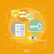 Stock Illustration of SEO Optimization Concept