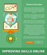 Improving Skills Online Concept - stock illustration