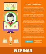 Stock Illustration of Webinare, Distance Education and Learning Concept
