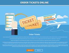 Order Tickets Online - stock illustration