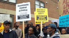 Freddie Gray protesters in Baltimore  Stock Footage