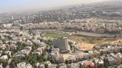 Aerial of the suburbs of Jerusalem, ISRAEL Stock Footage
