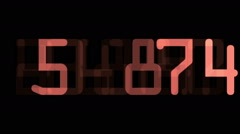 Digital countdown timer - stock footage