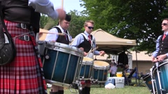 Scottish, Drummers getting it right Stock Footage