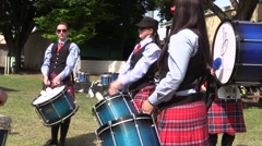 Scottish, Young women drummers Stock Footage
