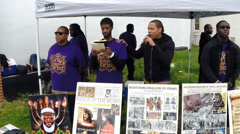 News footage of Black Israelites publicly preaching in Baltimore Stock Footage