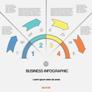 Infographic  template with text areas on four positions Stock Illustration