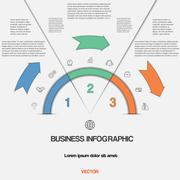 Infographic with text areas on three positions Stock Illustration