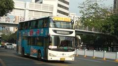 Shenzhen Shennan Avenue Stock Footage
