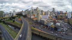 Aerial view of Sao Paulo downtown, Brazil Stock Footage