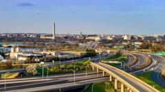 Washington DC Skyline Stock Footage