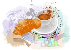 morning coffee - stock illustration