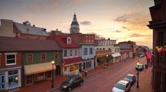 Annapolis Maryland Skyline Stock Footage