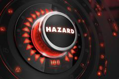 Hazard Controller on Black Console - stock illustration