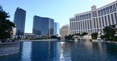 Las Vegas at Bellagio Generic Shot of Resort Casinos Stock Footage