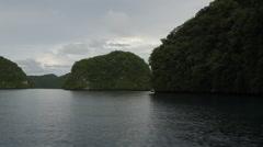 Stunning Rock Island of Palau Stock Footage