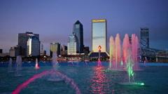Jacksonville, Florida Skyline Stock Footage