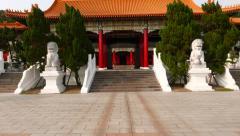 Moving through Martyr's Shrine Entrance Building, Taipei Stock Footage