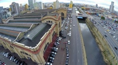 Aerial View from Mercado Municipal in Sao Paulo, Brazil Stock Footage