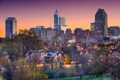 Raleigh North Carolina Skyline Kuvituskuvat