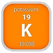 Potassium material sign - stock photo