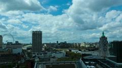 Waterloo Bridge, OXO Tower and London Eye day time lapse. 4K Stock Footage