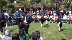 Country performance of the folk dancing group audio Stock Footage