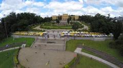 Aerial view of the Museum Paulista (Museu do Ipiranga) in Sao Paulo, Brazil Stock Footage