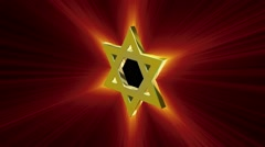 Ray rotates among gold Star of David Stock Footage