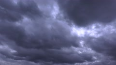 Storm clouds approaching time lapse Stock Footage