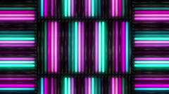 Stock Video Footage of Neon Lights Pattern