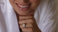 Woman with ring Stock Footage