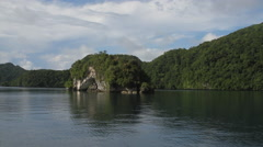 The Arch  of  Rock Islands of Palau Stock Footage