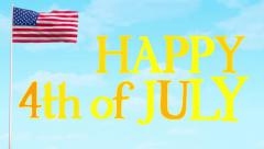 July 4 USA Animation Video Stock Footage